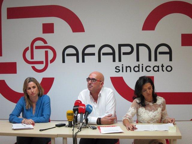 Yolanda Erro, Juan Carlos Laboreo y Esmeralda Landa, de Afapna