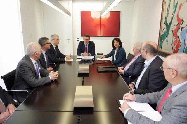 Cooperativas Lácteas Unidas (Clun) se reúnen con Feijóo