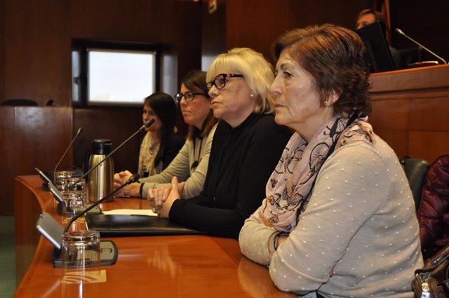 Marisol Salafranca, en segundo término, hoy en las Cortes