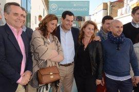 """Moreno critica la """"gira televisiva"""" de Susana Díaz para """"sacar al PSOE de la crisis"""""""