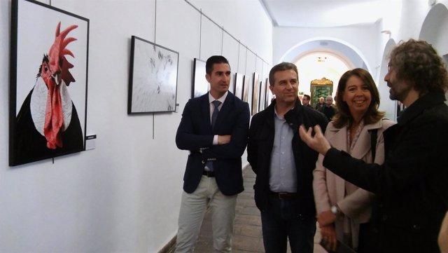 Sánchez (centro), visita la exposición
