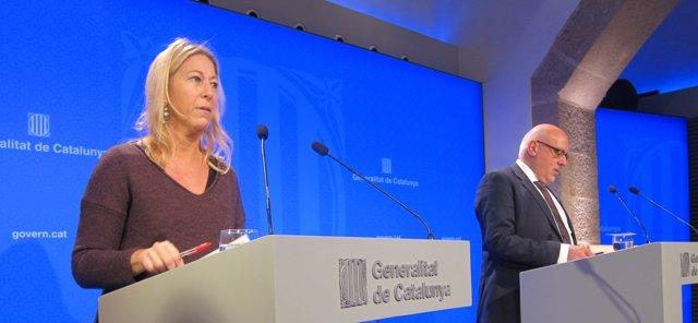 Neus Munté y Jordi Baiget, consellers de la Generalitat