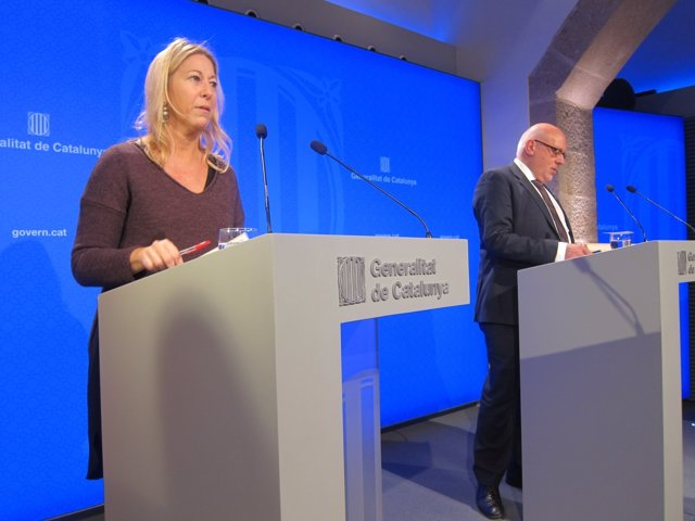 Neus Munté, Jordi Baiget, consellers de la Generaltat