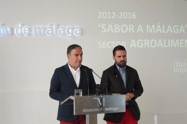 Elías Bendodo y Francisco Salado, en rueda de prensa sobre Sabor a Málaga