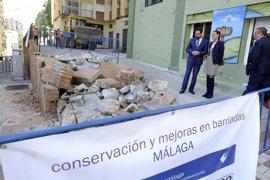 Ayuntamiento de Málaga inicia un plan de mejora de barriadas dotado con casi tres millones