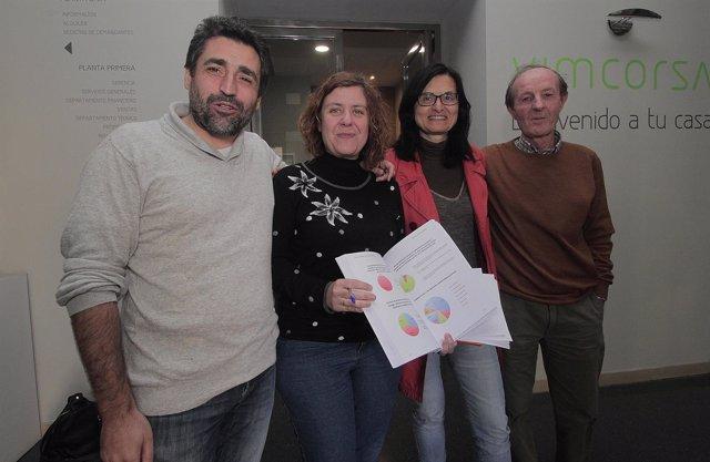 Del Castillo, Doblas, Pernichi y Pino en la presentación
