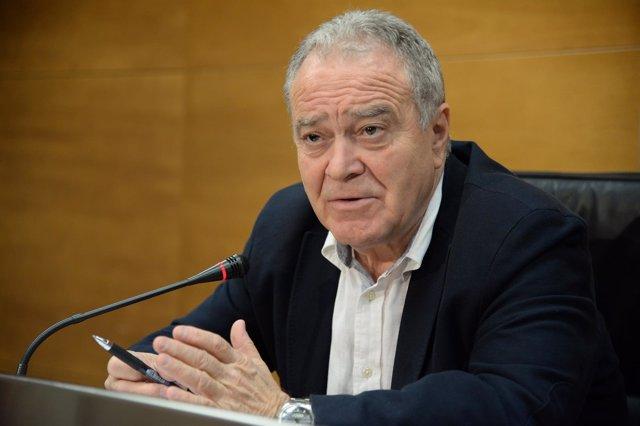 El presidente de la DPH, Miguel Gracia, en rueda de prensa
