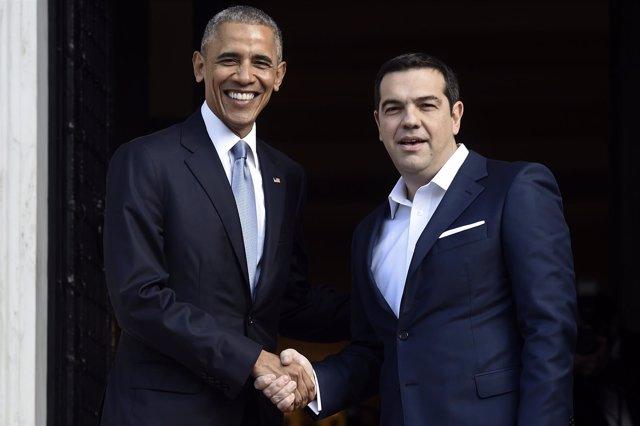Obama y Tsipras se reúnen en Atenas