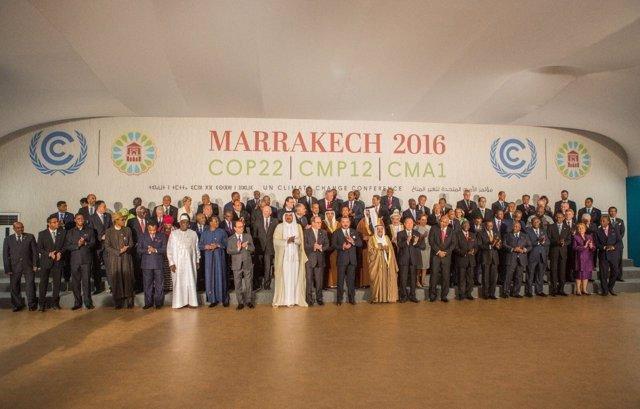 Mohammed VI inaugura el tramo de alto nivel en la COP22 en Marrakech (Marruecos)