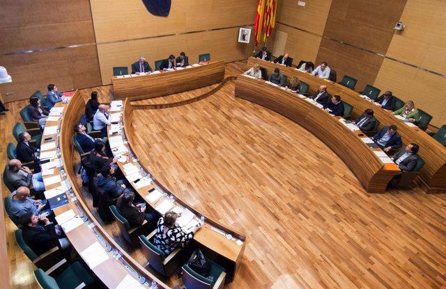 Imagen del pleno de la Diputación de Valencia