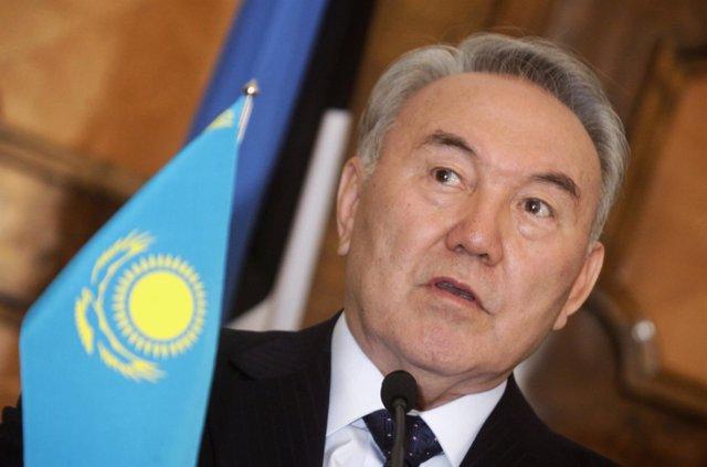 El Presidente De Kazajistán, Nursultan Nazarbayev