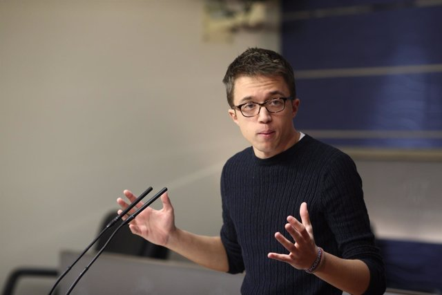 Rueda de prensa de Iñigo Errejón en el Congreso