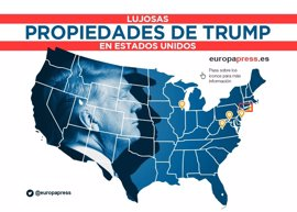 Hoteles cinco estrellas, campos de golf, casinos... ¿Cuáles son las propiedades de Donald Trump?