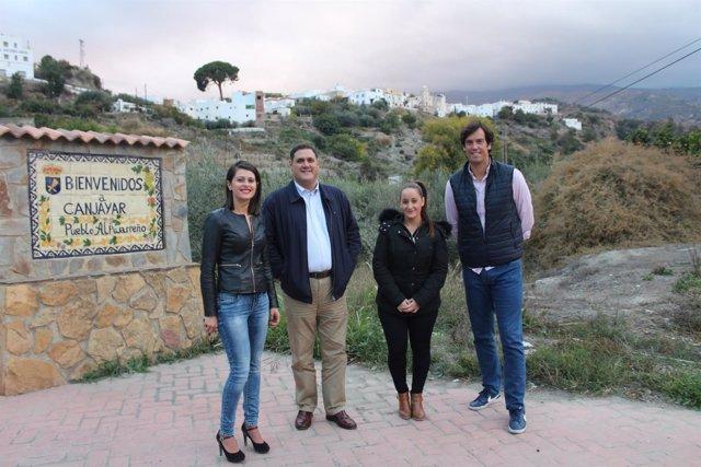 Los responsables del área de Deportes visitan Canjáyar para 'Carrera de la Uva'.