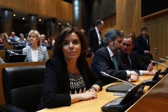 Soraya Sáenz de Santamaría en el Congreso
