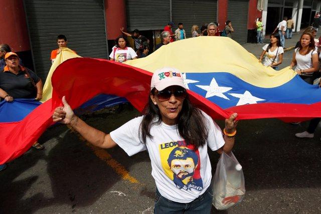 Mnaifestaciones para la liberación de Leopoldo López
