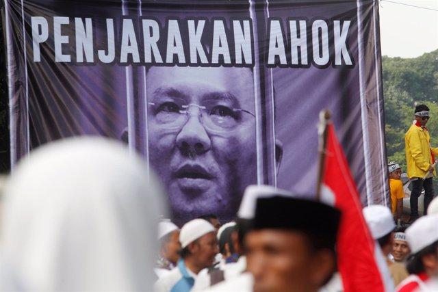 Protesta contra 'Ahok', gobernador de Yakarta