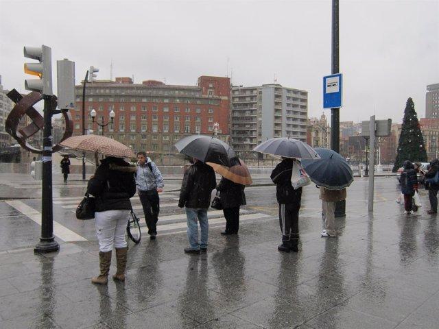 Gente en Bilbao