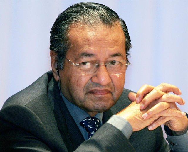 El exprimer ministro malasio Mahathir Mohamad