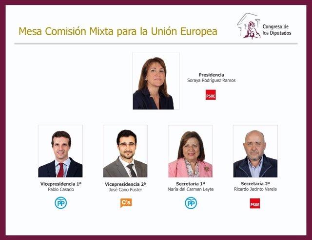 Mesa de la Comisión Mixta de la UE