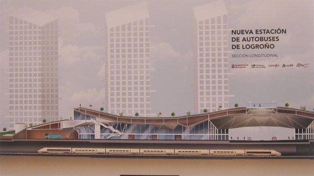 Imagen del proyecto de futura estación de autobuses