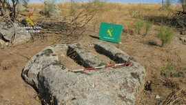 Descubren un conjunto fúnebre de época visigoda en Menasalbas