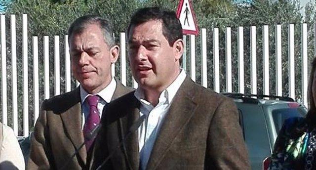 Juanma Moreno, hoy en Tomares