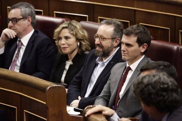 Albert Rivera, Juan Carlos Girauta, Marta Martín y José Manuel Villegas