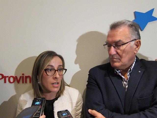 La conselleira de Infraestruturas y el presidente de la Fegamp