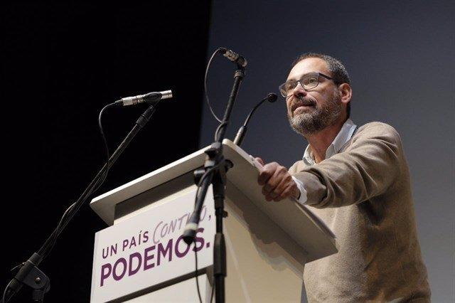Alberto Montero durante la campaña.