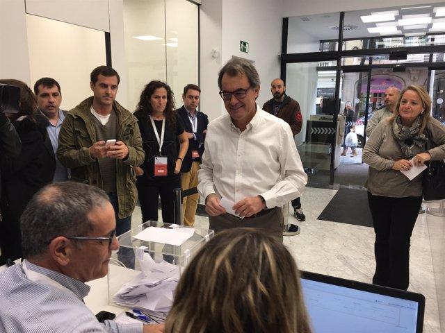 El presidente del PDC, Artur Mas