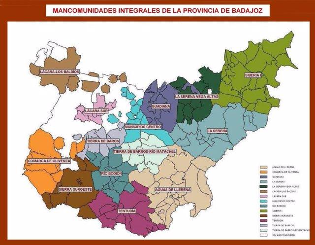 Mapa de mancomunidades