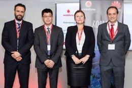 Andreas Thiel, Jiang Wangcheng, Esperanza Caro y Daniel Barallat