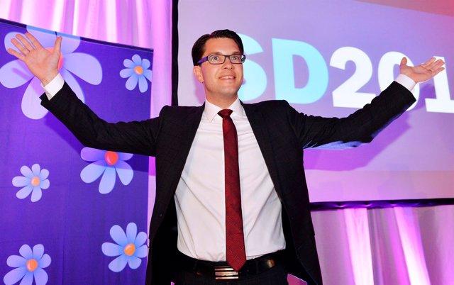 El líder del partido Demócratas de Suecia, Jimmie Akesson.