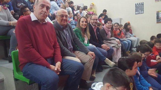 Ruiz y Luque (dchha.) en el CEIP Nuestra Señora de Linares