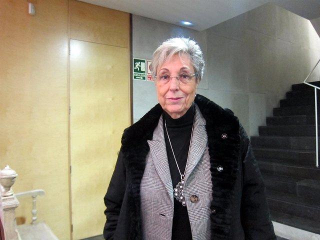 Roca Trías, antes de participar en el congreso celebrado en Valladolid.