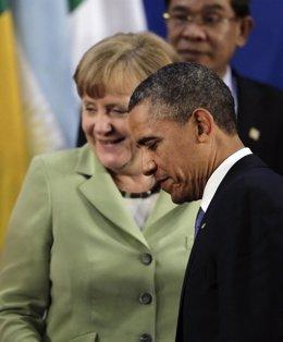 Obama y Mérkel