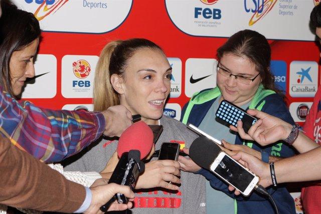 La jugadora española de baloncesto Luci Pascua
