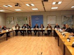 Josep Rull en la la reunión con la Taula Estratègica del Corredor Mediterrani