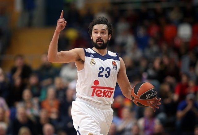 Sergio Llull Real Madrid contra CSKA Moscow