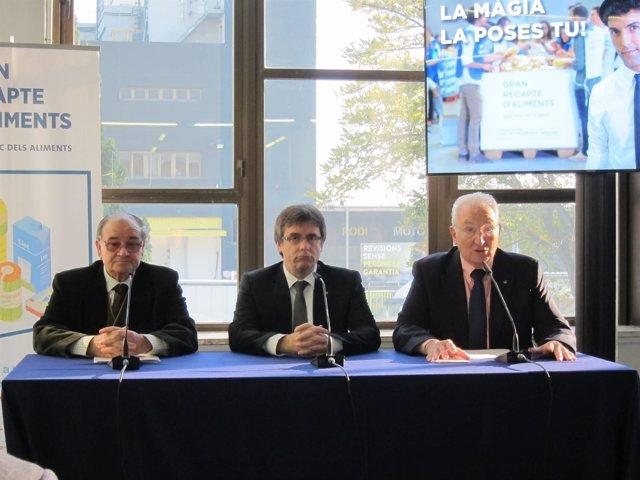 Frederic Gómez, Carles Puigdemont y Eduard Arruga