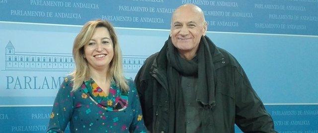 Carmen Lizárraga junto a Paco Vega