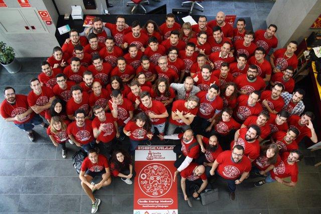 Participantes del Global Startup Weekend en una edición anterior.