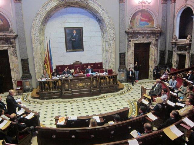 Pleno del Ayuntamiento de Valencia de aprobación del presupuesto de 2017