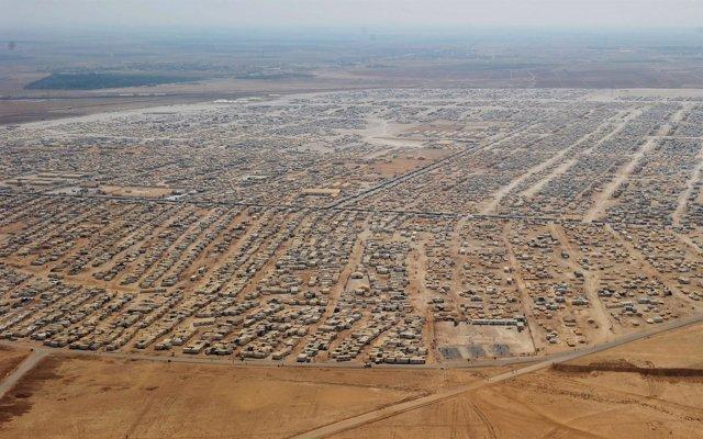Vista aérea del campo de Zaatari