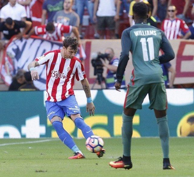 El Sporting gana al Athletic Club en El Molinón