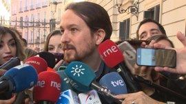 """Pablo Iglesias critica que el discurso del Rey suena a """"un tiempo que ya pasó en España"""""""