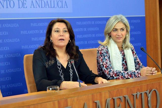 Carmen Crespo y Patricia del Pozo, hoy en rueda de prensa