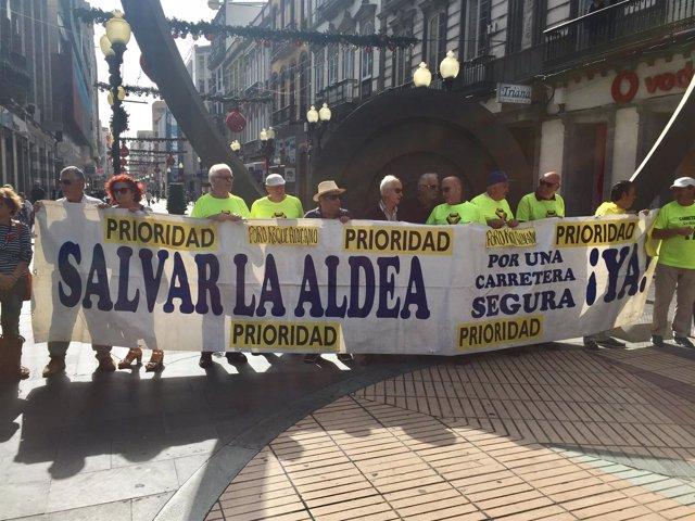 El Foro Aldeano se ha manifestado este jueves en Las Palmas de Gran Canaria