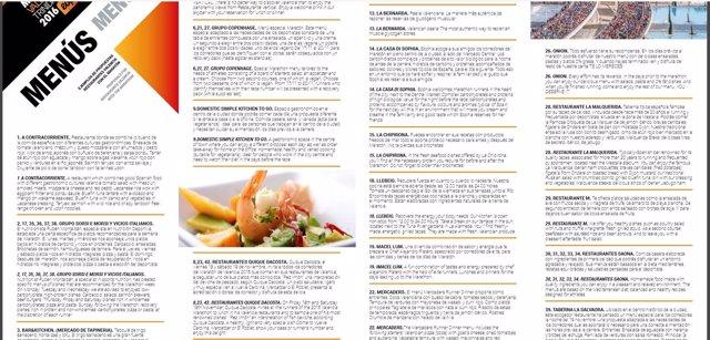Propuestas de menús para el maratón de Valencia